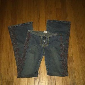 Z. Cavaricci low-rise flare Jeans Sz 3